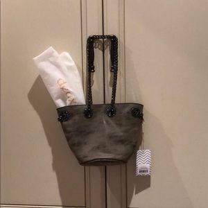 deux lux kiki mini bucket purse in charcoal